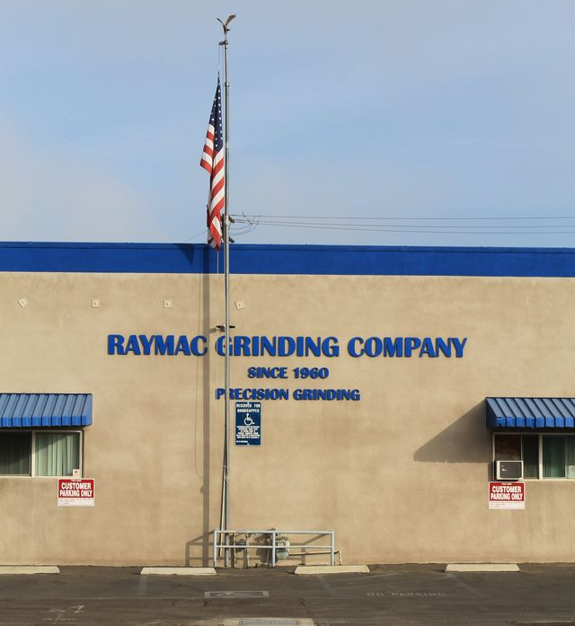 Raymac Grinding is located in Fullerton, California.